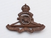 16 Royal Canadian Artillery cap badge, WW I
