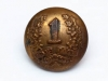 Brass tunic button of the 1st Battalion, CEF.