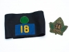 18th Battalion CEF post war veterans\' association blazer crest and arm band.