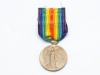 Inter-Allied Victory Medal. Victory medals of similar designs with the common rainbow coloured ribbon were awarded by allied countries to their respective personnel who served in World War I. This is an example of the British Victory Medal that was awarded to British and Empire personnel who served in an active theatre of war. This medal is named on the rim to Lieut. G.G. Brackin.